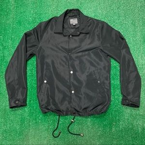 ASOS Coaches Jacket Button Front Lined Lightweight
